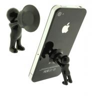 China 3D man stand with silicone sucker for mobile phone for sale
