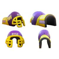 Wholesale Colorful PVC Inflatable Helmet Tunnel / Inflatable Football Helmet Tunnel from china suppliers