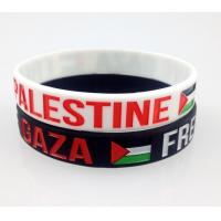 Durable Custom Printed Silicone Wristbands / Rubber Bracelets With Words for sale