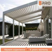 Durable White Aluminum Attached Pergola Wall Mounted Style For Window Of Office