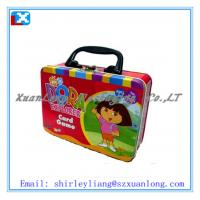 Wholesale cute lunch tin box with handle and lock from china suppliers