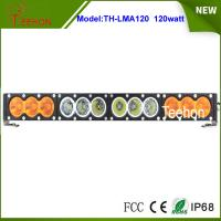 "Buy cheap Single row 21.9"" 120w white/amber led light bar 10w per CREE LED for offroad from wholesalers"