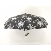 Wholesale Waterproof Fabric 9 Panels Auto Open Close Umbrella In Black Color With Printed Handle from china suppliers