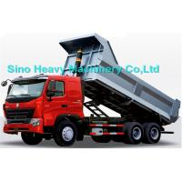 Wholesale 336HP HOWO Heavy Duty Dump Truck, red, white and blue colors, ZZ3257M3247N, 6x4 from china suppliers