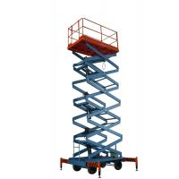 China 9m 300kg Four Wheel Self Propelled Hydraulic Platform Mobile Scissor Lift Table for sale