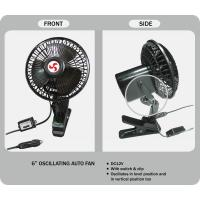 Quality Clip Mount Oscillating Car Fan 6 Inches With Switch DC12V or DC 24V for sale