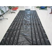 China Side Curtains PVC Coated Tarpaulin Abrasion Resistant Customizable Size on sale