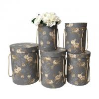 Wholesale High Quality Hot Sale Friendly Packaging Box Round Paper Flower Box With Handle from china suppliers