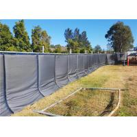 Wholesale 40dB Portable Noise Barriers for Temporary Fencing Panels easy to secured with construction fence from china suppliers