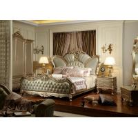 Wholesale Luxury hotel bedroom furniture Crown leather upholstered Headboard w/ Wardrobe Joyful Ever from china suppliers