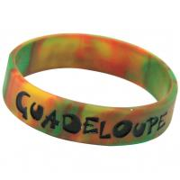 Silicone Bracelet mixed colors, Silicone Wristband with Camouflage Color for sale