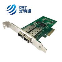 F902E Gigabit 2- Port Fiber Optic PCIe Network Adapter Card with Intel I350 controller for sale