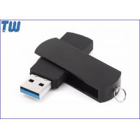 China Rotating Metal Cover USB 3.0 Flash Drives ABS Body Free Key Ring for sale