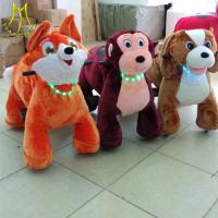 China Hansel  shopping mall children electric stuffed walking animals toy ride on sale
