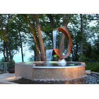 Wholesale Contemporary Corten Steel Water Feature Fountain C Shape For Outdoor from china suppliers