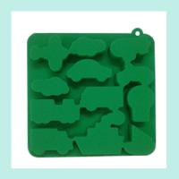 Wholesale green silicone ice tray ,animals shape silicone ice trays from china suppliers