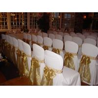 China Restaurant Banquet Flower Lace Chair Cover on sale