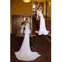 China Elegant Long Sleeve Lace Wedding Dresses Winter Style with Sequins Beads on sale