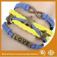 Wholesale Endless Engraved Personalized Leather Bracelets With Magnetic Closure from china suppliers