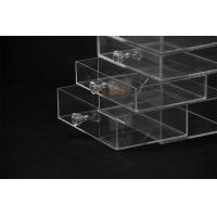 Quality 5 Tier Acrylic Display Stand Custom Store Fixtures Jewelry Display Drawer With Diamond Handle for sale