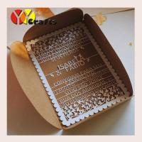China Floral lace wedding invitation card birthday card with laser cut wordings on sale