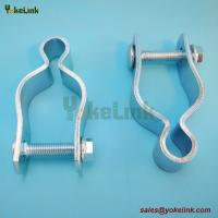 2 Zinc finish steel Pipe Gate Hinge for Chain Link Fence Accessories for sale