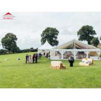 Wholesale White Luxury Wedding Tents For Rental With Double PVC Fabric Side Wall from china suppliers