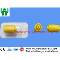 Wholesale CE and ISO approved medical disposable yellow or transparent Heparin Caps for I.V. catheters cannulas from china suppliers