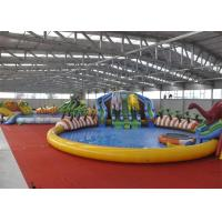 Quality Giant Outdoor Play Equipment Amazing Inflatable Water Park For Kids for sale