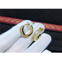 Wholesale Personalized Charming Messika Diamond Earrings In 18K Yellow Gold from china suppliers