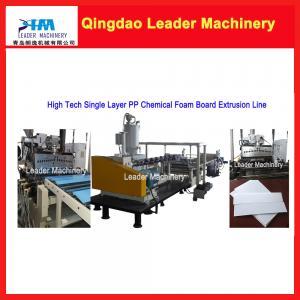Wholesale Single layer PP chemical foam board/ sheet making machine, plastic sheet making machine from china suppliers