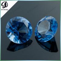 China AAAAA hign quality round shape cubic zirconia crystal beads wholesale on sale