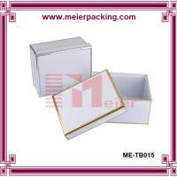 Wholesale Custom paper square box, White silver/golden foil sweather packaging box ME-TB015 from china suppliers