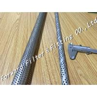 Straight Seam Welded Perforated Steel Pipe For Oil / Water , SUS304 Materials