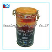 Wholesale Round coffee tin box with plastic lid from china suppliers