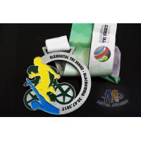 Buy cheap Customized Metal Award Medals Cut Out Design And Glitter Color from wholesalers