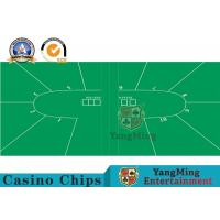 Wholesale Custom Texas Holdem Casino Grade Poker Table Layout Felt / Roulette Wheel Layout from china suppliers