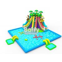 Wholesale Kids inflatable water park equipment , OEM/ODM jungle inflatable water slide pool park from china suppliers