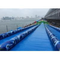 Wholesale Long Funny Blue 3 Lane 1000ft The City Slip A Slide Inflatable Water Slide from china suppliers