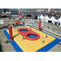 Wholesale Beach Inflatable Volleyball Court For Rental / Jumping Trampoline Inflatable Volleyball Field from china suppliers