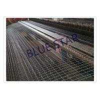 China Galvanized / Carbon Steel Wire Mesh Single / Double Intermediate Weave Pattern on sale
