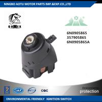 China Auto Ignition Parts Car Switches , 6N0905865 357905865 6N0905865A Black Automotive Ignition Switch on sale