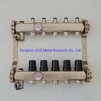 China Stainless Steel Hydronic Pex Radiant Heating Manifolds for sale
