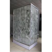 Buy cheap shower cubilce 5m door thickness Corner  square shower stall stripe glass from Wholesalers