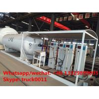 Buy cheap Factory direct sale best price 25m3 mobile skid lpg tank with digital scales, skid lpg gas plant with 4 digital scales from Wholesalers