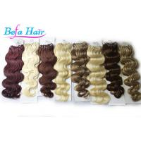 Wholesale 100% Unprocessed 24 inch / 26 inch Micro Loop Ring Hair Extensions wefts from china suppliers