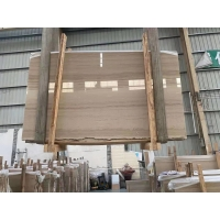 Wholesale Bookmatch Yellow Wooden Mulge Earl Royal Wood Grain Marble For Flooring Tiles And Stairs from china suppliers