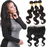 Wholesale Thick 360 Lace Frontal Closure , Lace Front Closure Human Hair Non - Remy Hair from china suppliers
