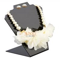 Wholesale Black Jewellery Necklace Display Stands Two Holes For 2 Necklace And 1 Set Earrings from china suppliers