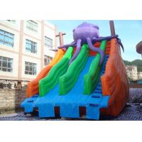 Quality Amusing Commercial Inflatable Slide , Inflatable Pool Slide For Water Park for sale